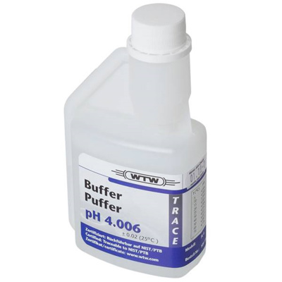 WTW DIN buffer, klar, 250 ml, pH 4,006 ±0,02