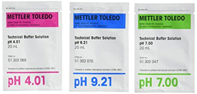 Buffer pH 4,01/7,00/10,00, breve 20 ml, 3x10 stk.