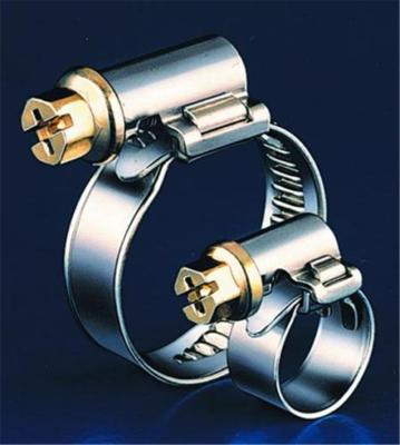 Worm-drive tubing clamps,chrome steel,9 mm 12-20 m